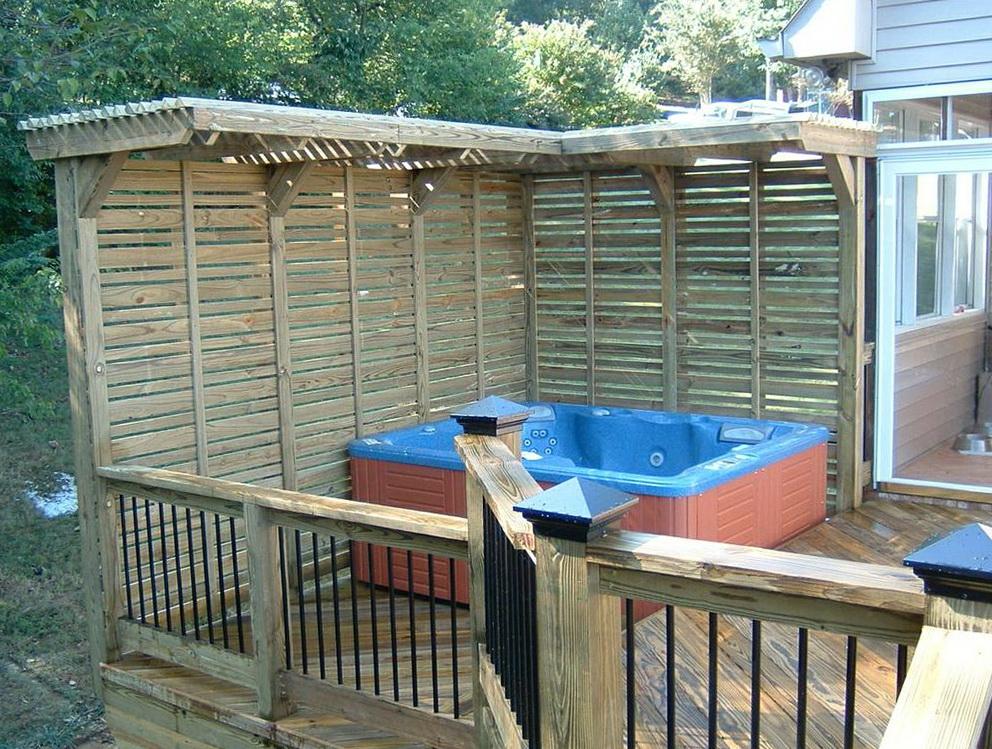 Hot Tub Deck Plans