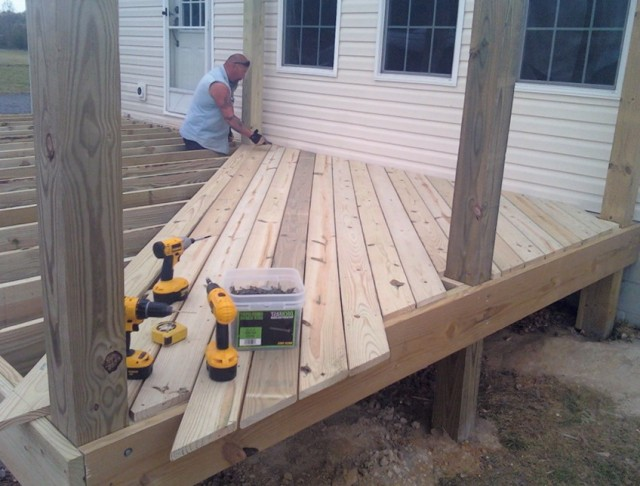 Installing Trex Decking Diagonal