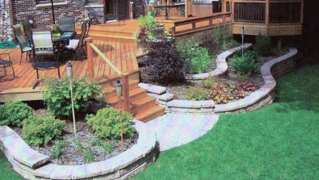 Landscaping Around Low Deck