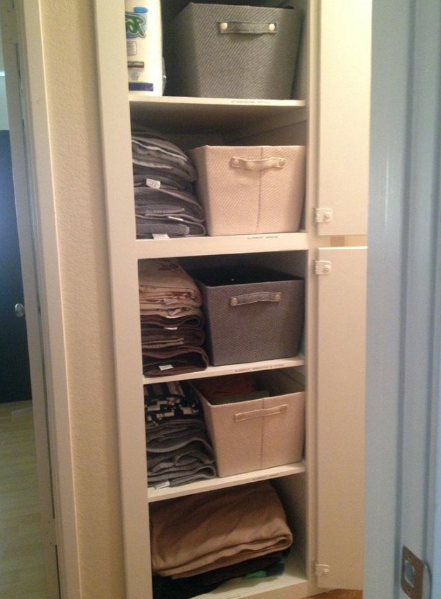 Linen Closet Organization Pinterest