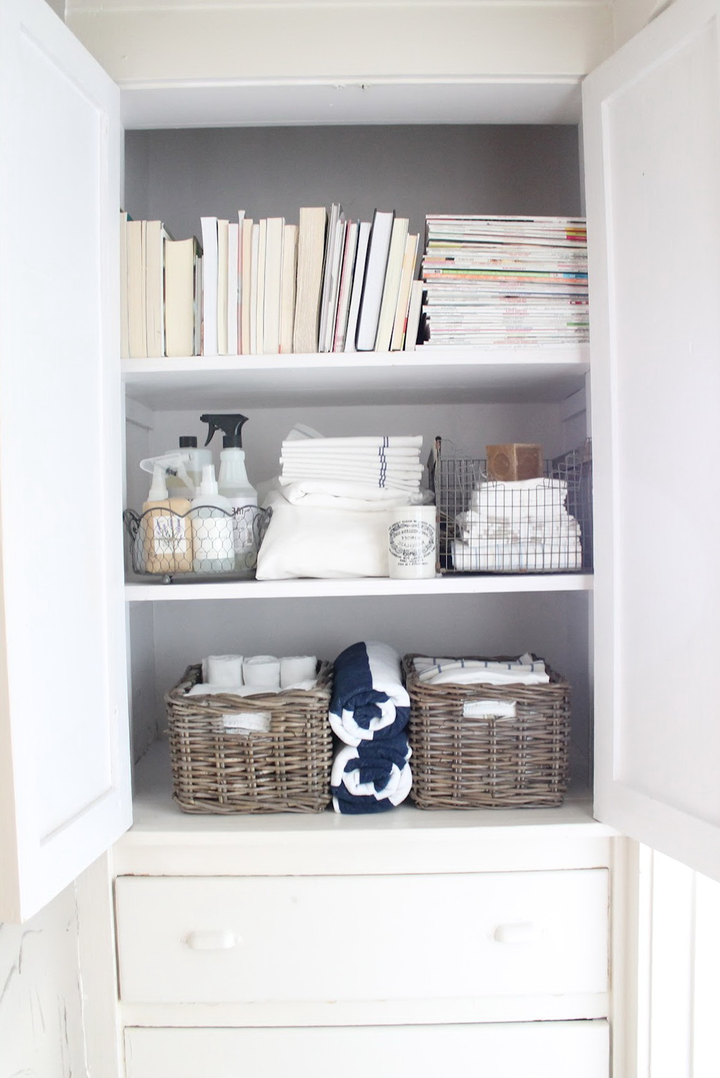 Linen Closet Storage Ideas