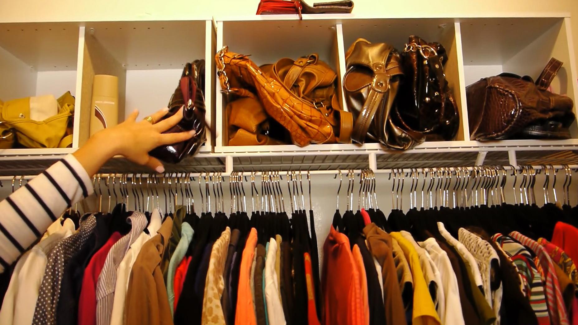 Organize Purses In Your Closet