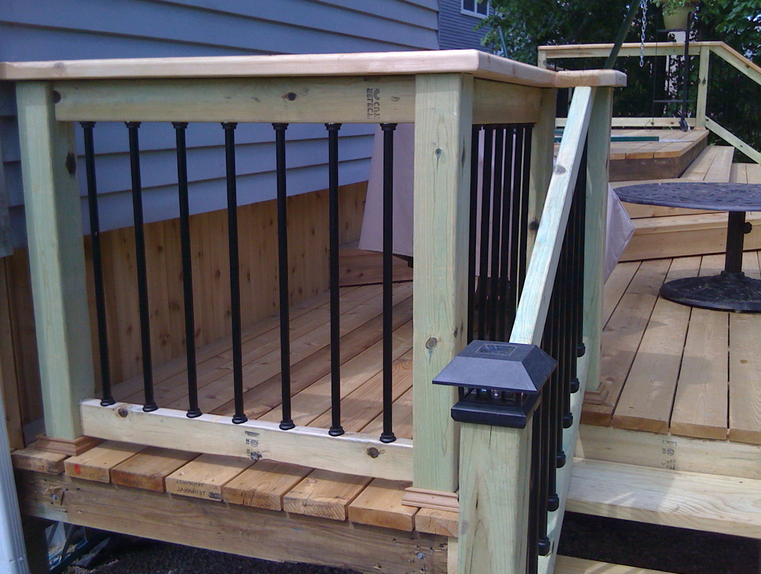 Paint Or Stain Deck Railing
