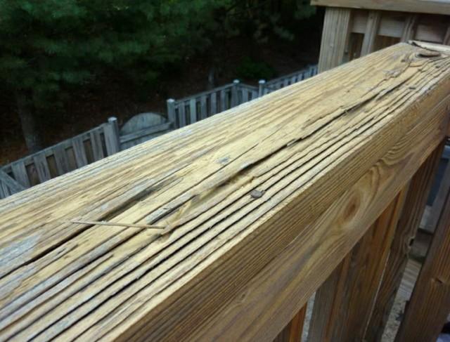 Pressure Washing Deck Damage
