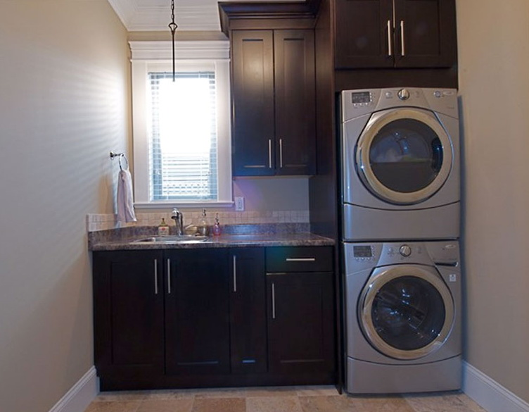 Stacked Laundry Closet Ideas