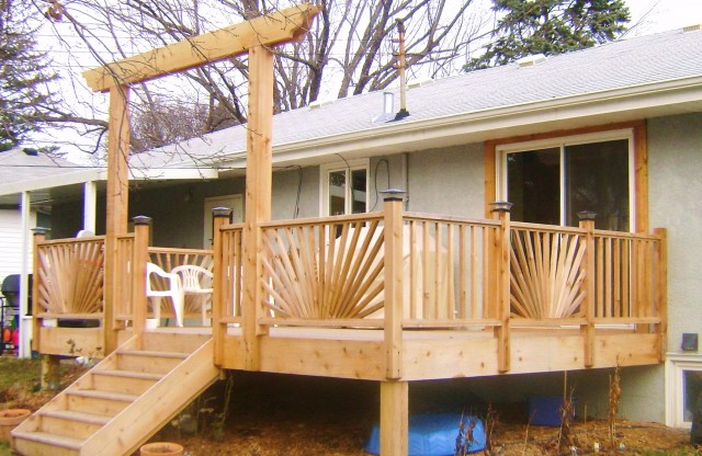 Sunburst Deck Railing Plans