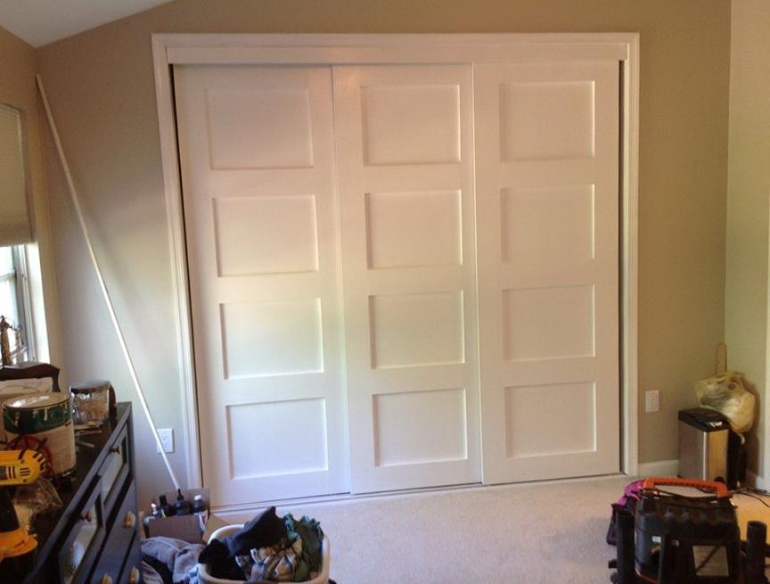 Triple Bypass Closet Doors