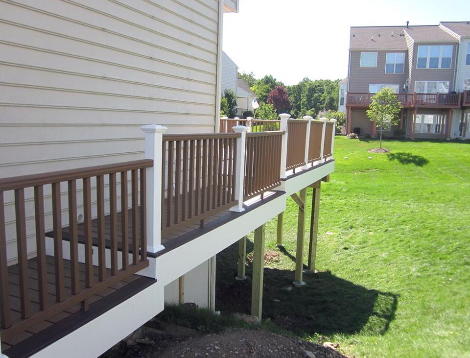 White Pvc Deck Railing