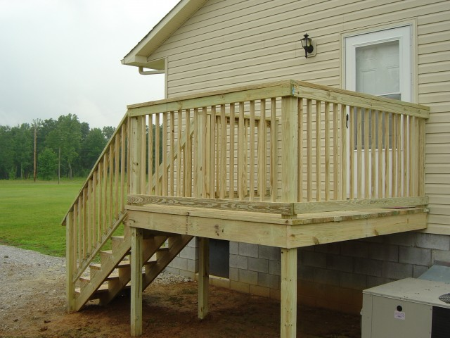 Wood Handrails For Decks