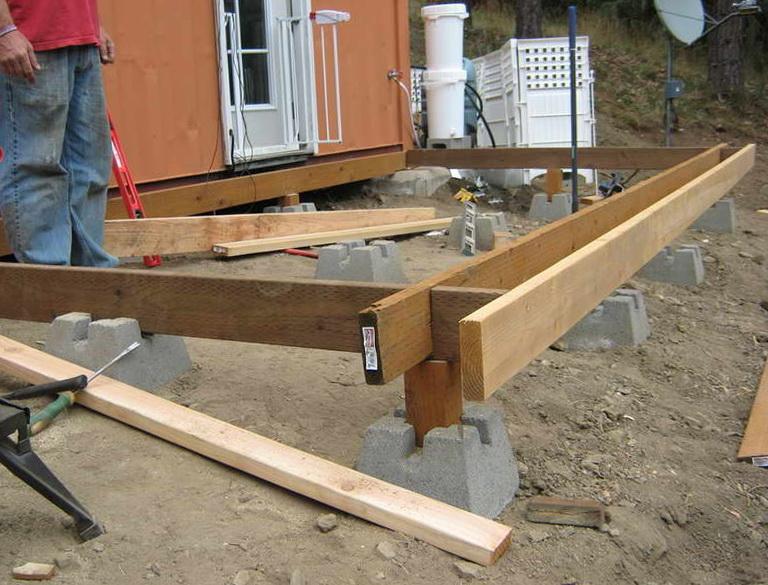 4x4 Concrete Deck Blocks