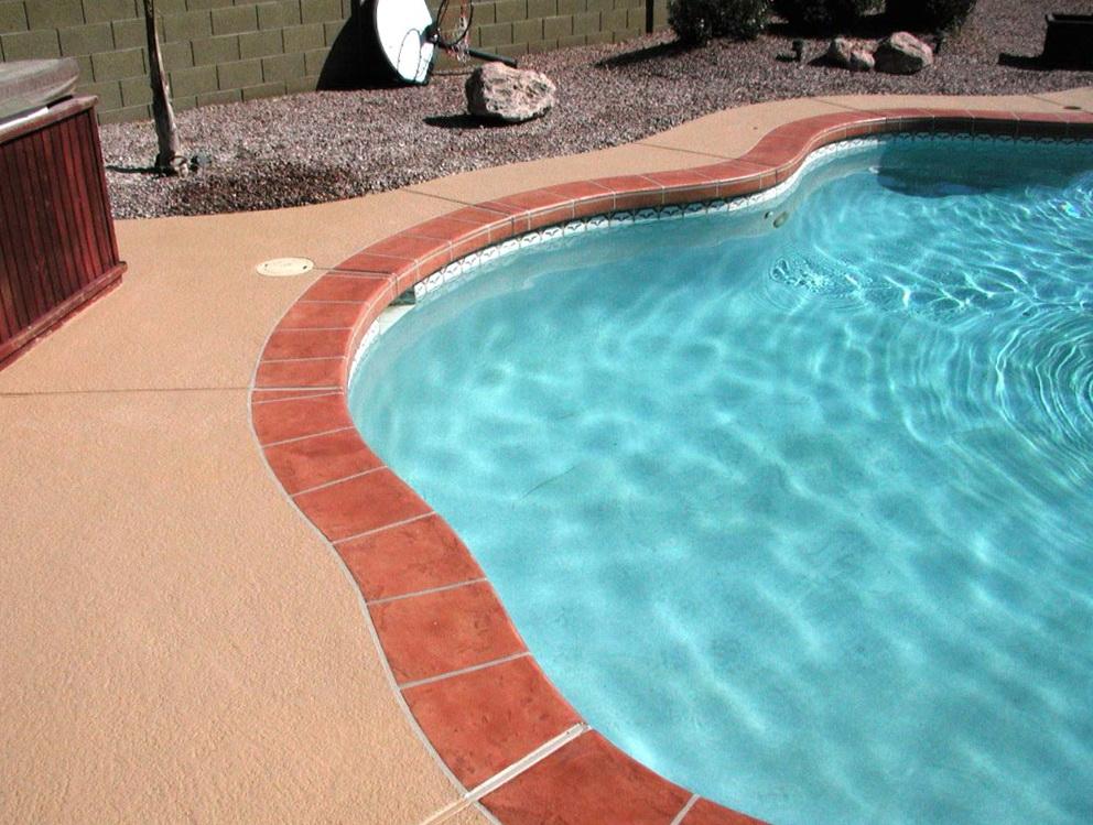 Acrylic Lace Pool Deck