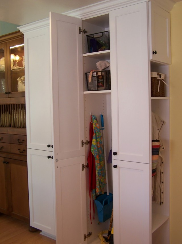 Broom Closet Cabinet Storage