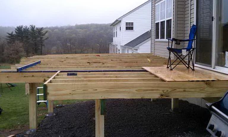 Building A Freestanding Deck Plans