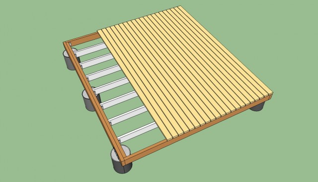 Building A Freestanding Deck Step By Step