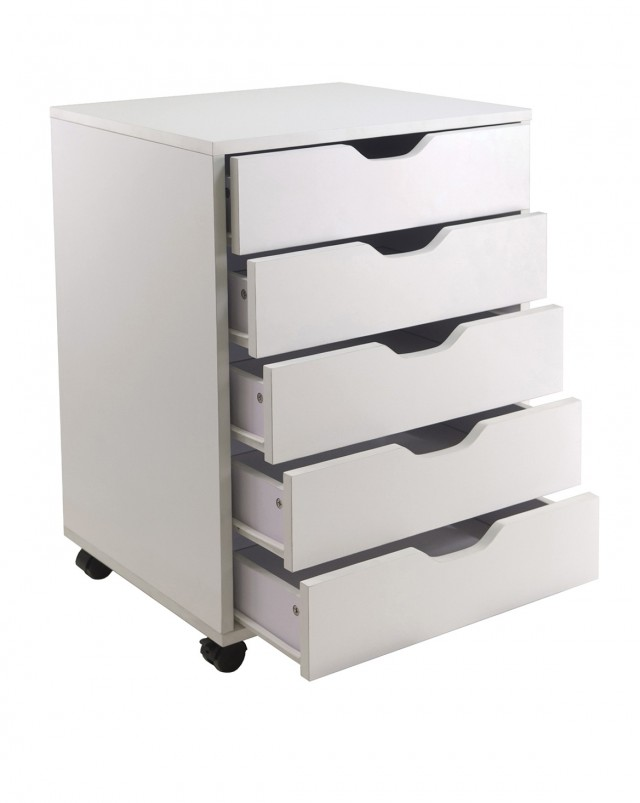 Closet Storage Drawers White