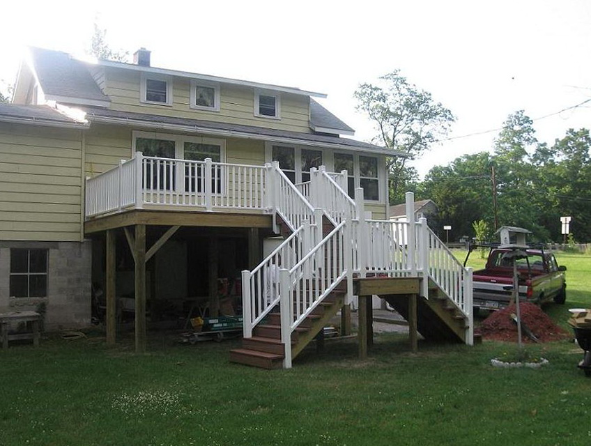 Deck Stairs Railing Height Code