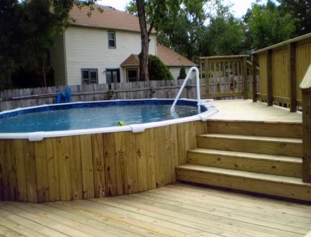 Free Deck Plans Above Ground Swimming Pools