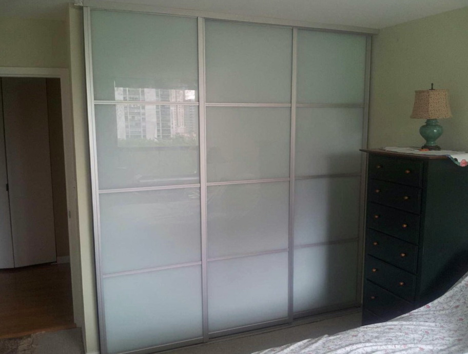 Frosted Glass Sliding Closet Doors