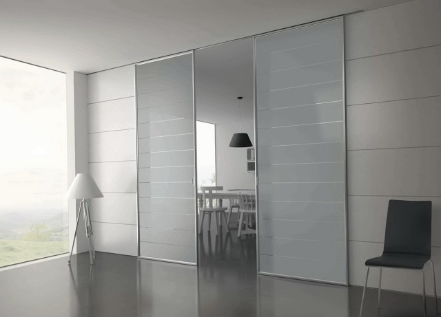 Modern Sliding Glass Closet Doors