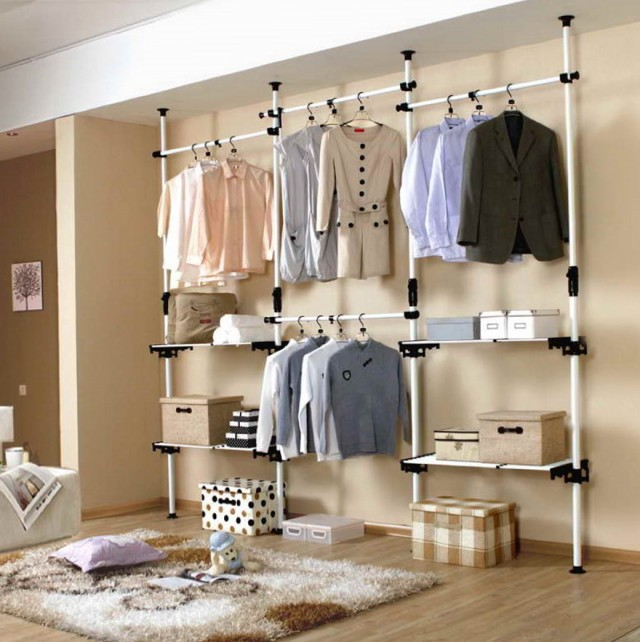 Open Wall Closet Ideas