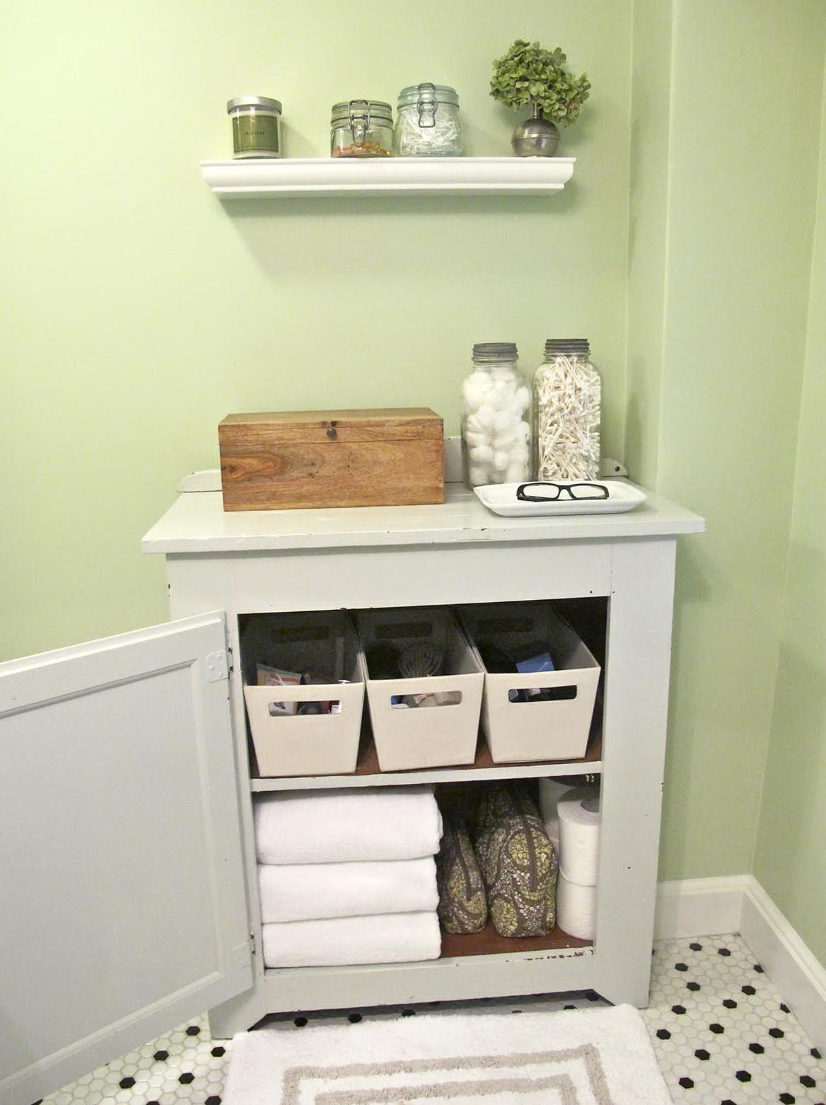Small Bathroom Closet Organization