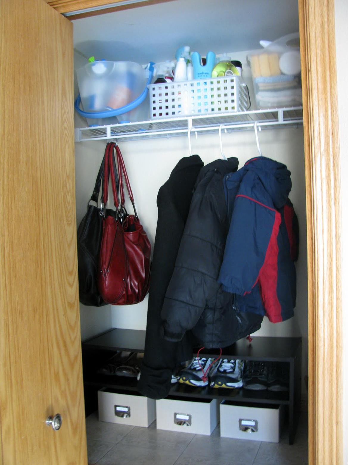 Small Coat Closet Organization