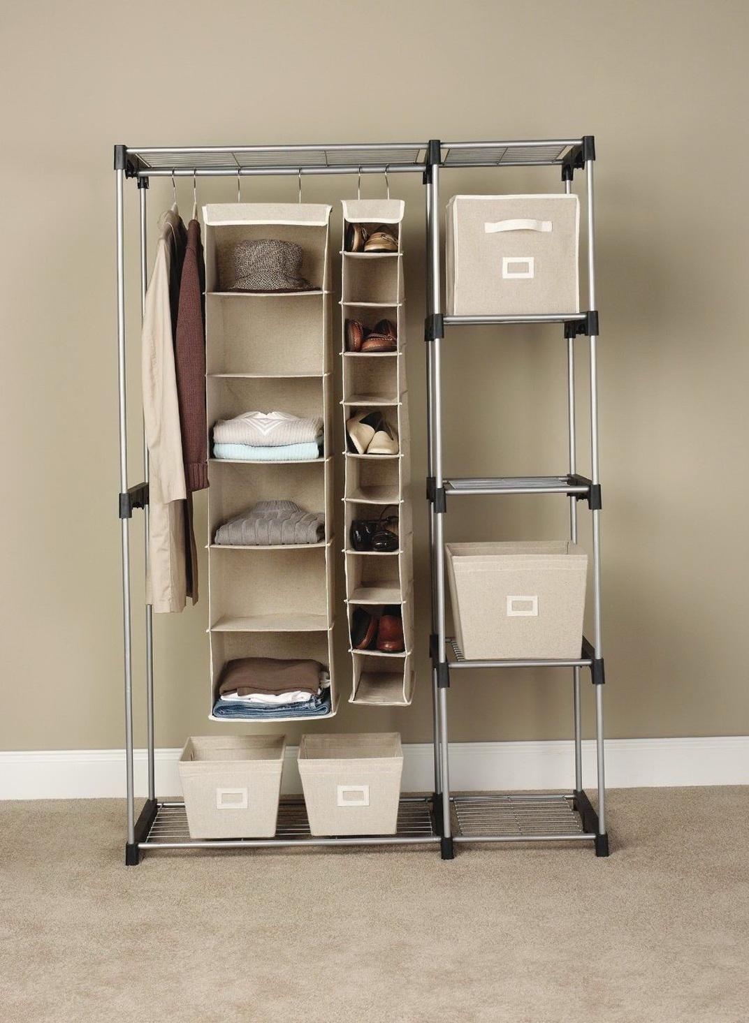 Stand Up Closet Rack