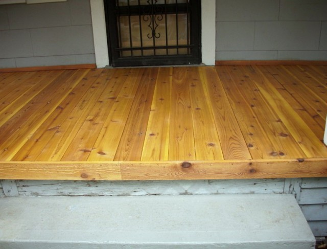 Tongue And Groove Cedar Decking