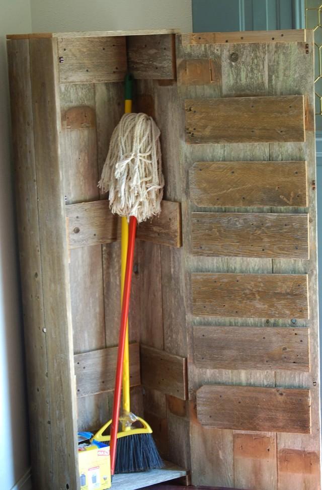 Wooden Broom Closet Cabinet