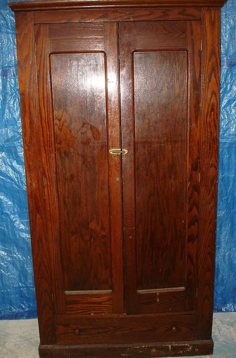 Antique Wood Wardrobe Closet