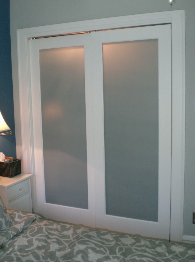 Bifold Frosted Glass Closet Doors