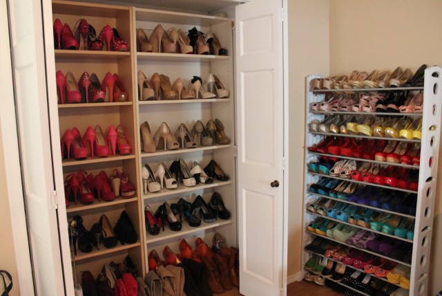 Build Shoe Shelves In Closet