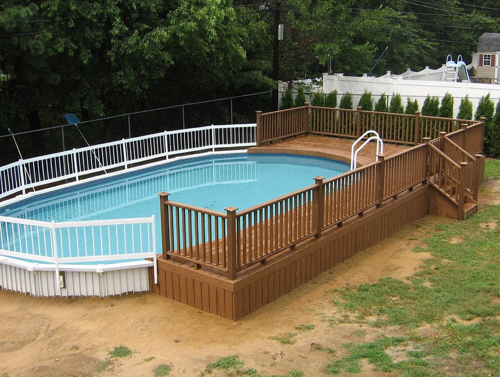 Deck Around Pool Plans