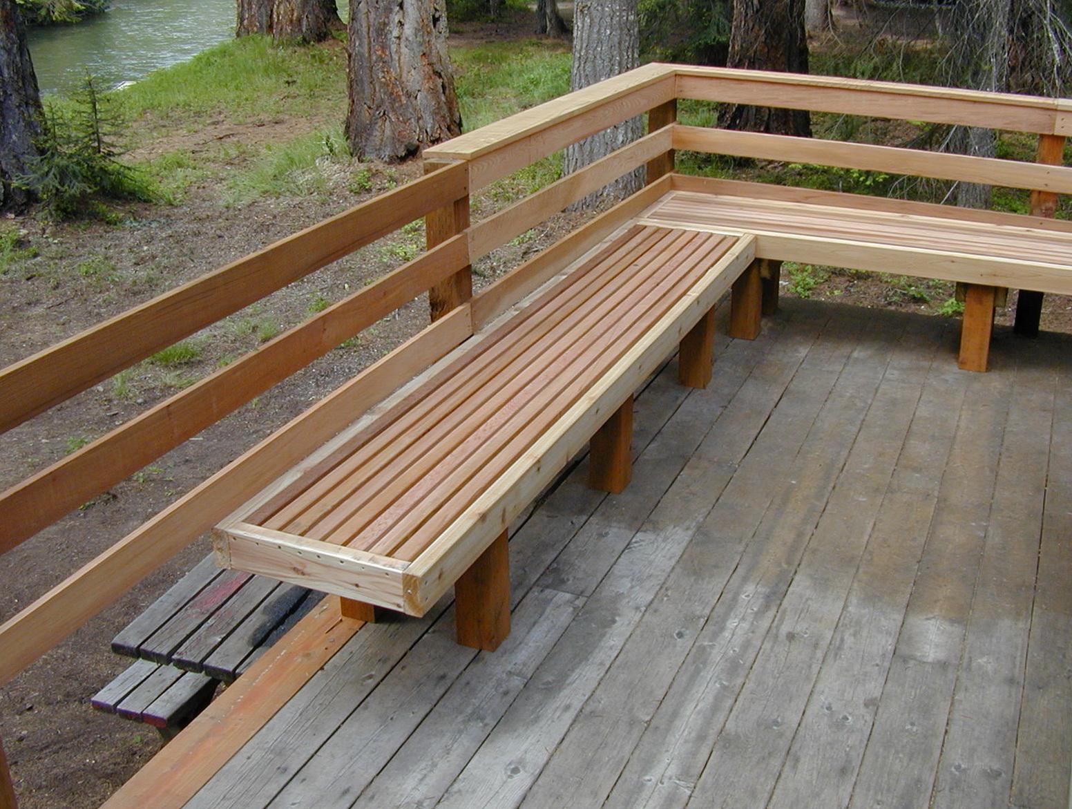 Deck Bench Design Ideas