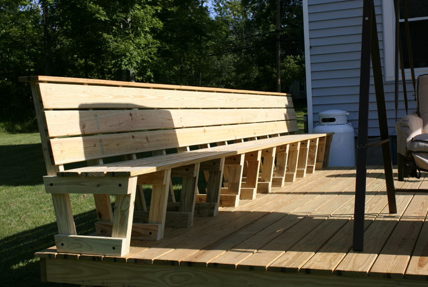 Deck Bench Seating Ideas