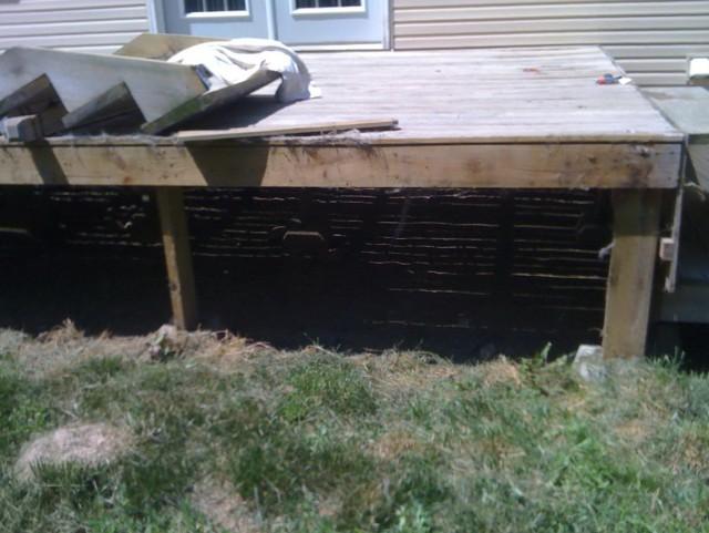 Deck Precast Footings
