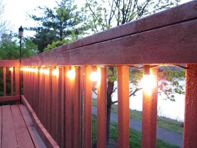 Deck Rail Lighting Ideas