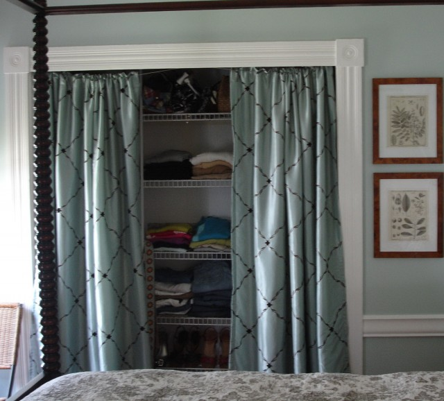 Hanging Curtains As Closet Doors