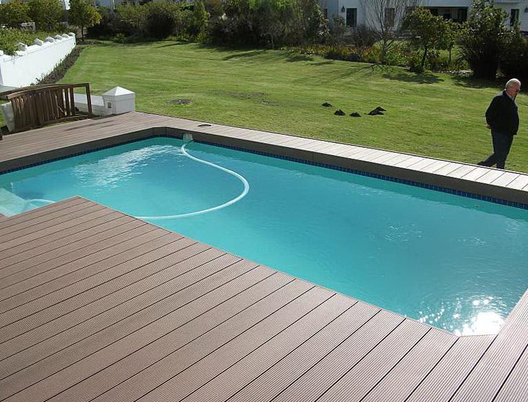 Installing Composite Decking Around Pool