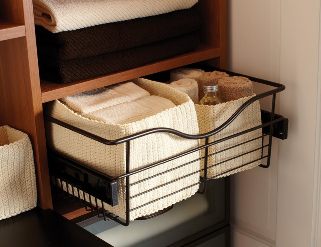 Linen Closet Storage Baskets