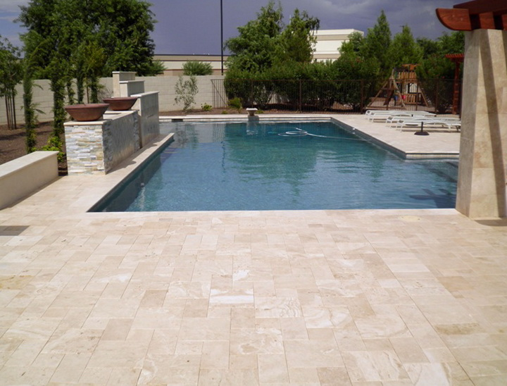 Pool Deck Travertine Pavers Or Kool Deck