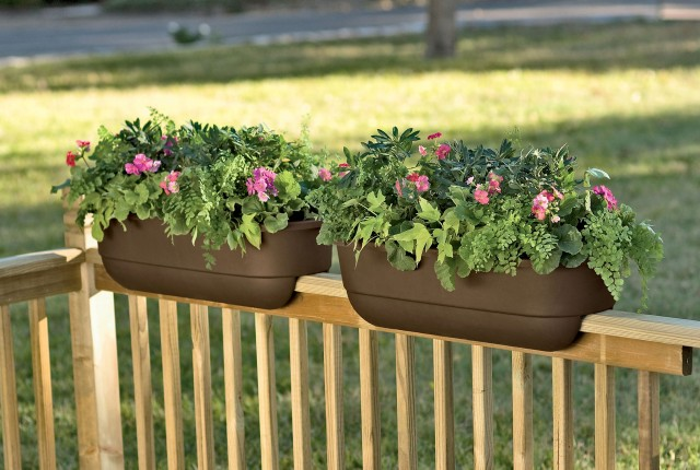Railing Deck Planter Boxes