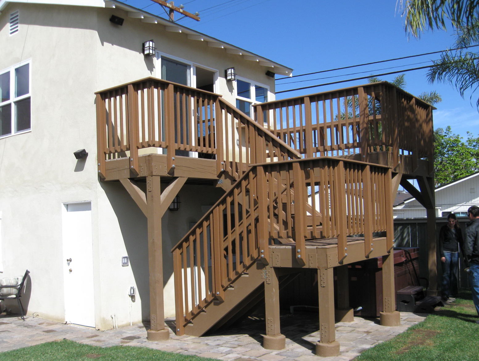 Second Story Deck Stair Designs
