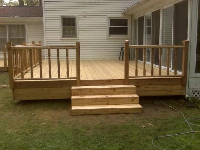 Simple Wood Deck Designs
