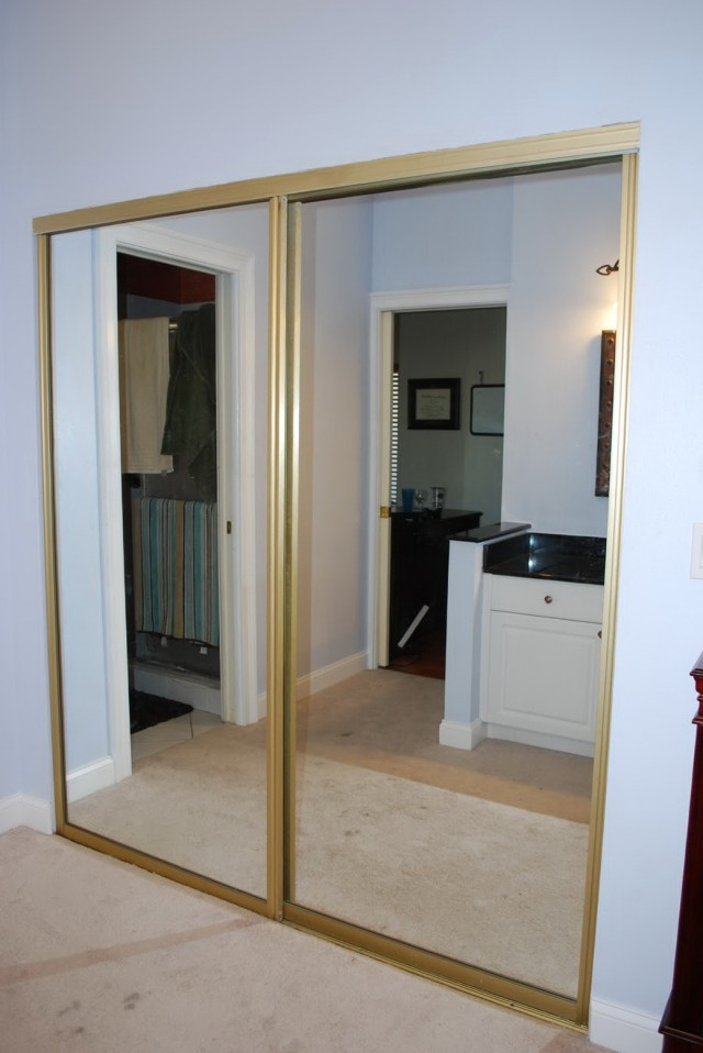 Sliding Door Closet Makeover