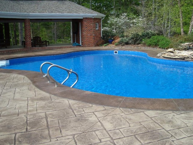 Stamped Concrete Pool Decks Photos