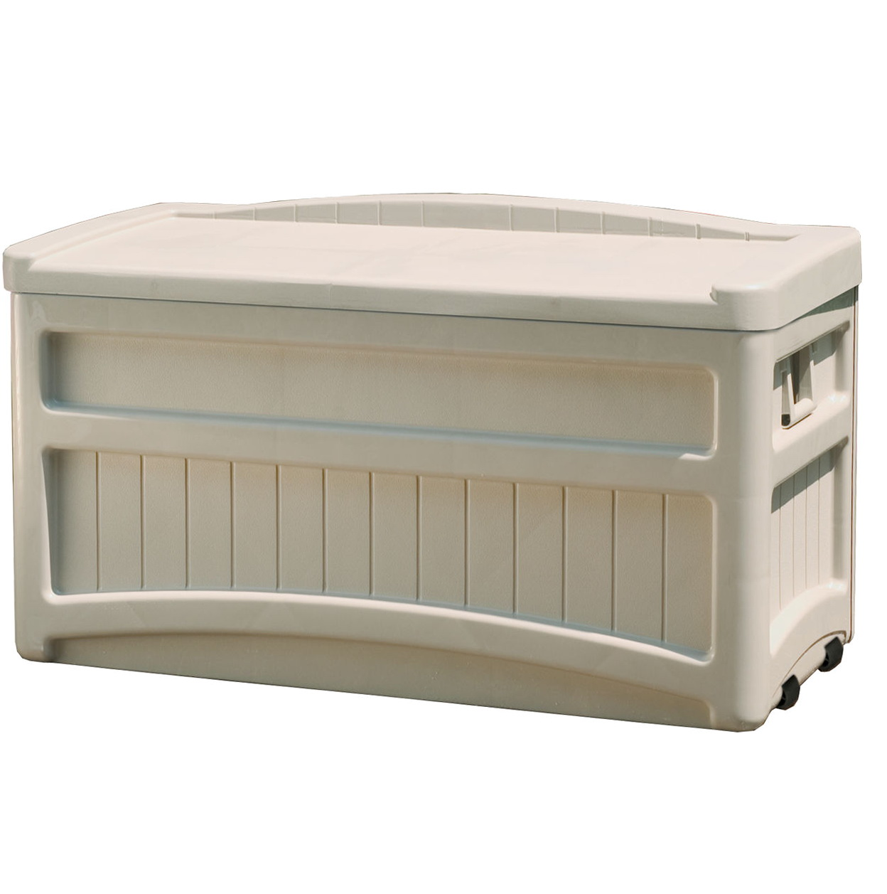 Suncast Deck Box With Seat And Wheels