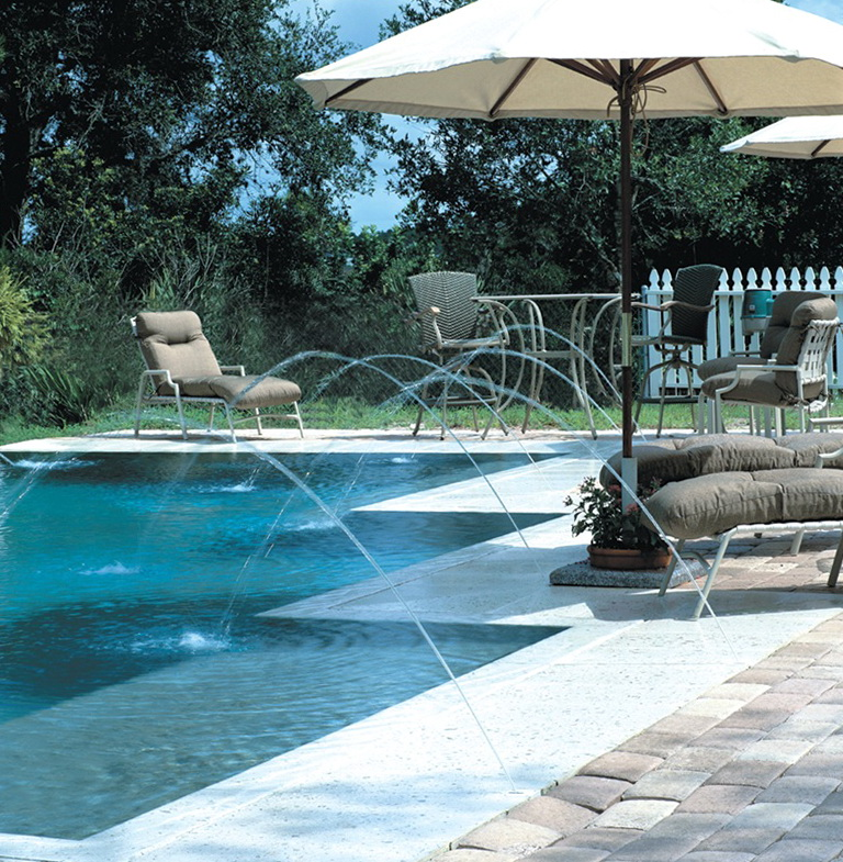 Swimming Pool Deck Jets
