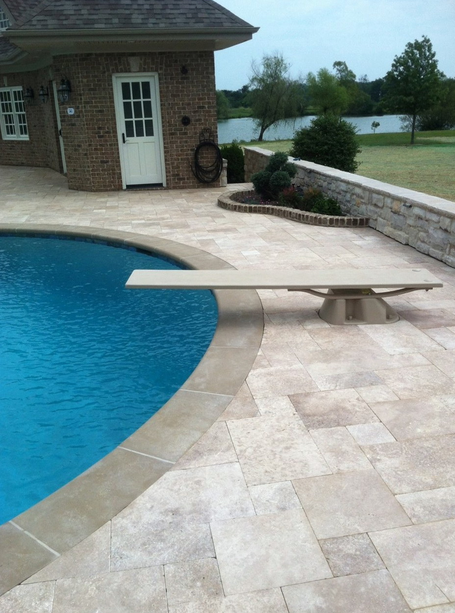 Travertine Pavers Pool Deck
