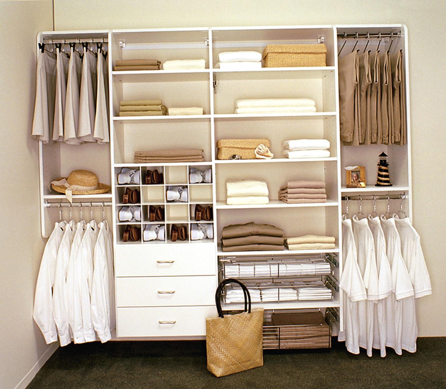 Wardrobe Storage Closet White